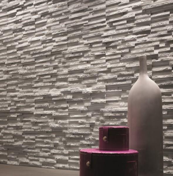 Przedpokój w kamieniu dekoracyjnym Moderno Arctic Incana Decor.