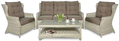 Trivento 3 Melange White (sofa 3-osobowa) meble technorattanowe