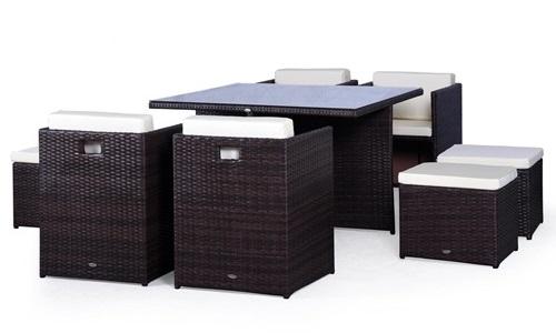 Krzesła i stoły ogrodowe technorattan Cubioso