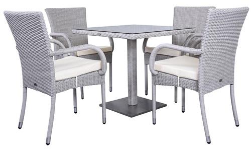 Stoły i krzesła ogrodowe z technorattanu Lauca 80