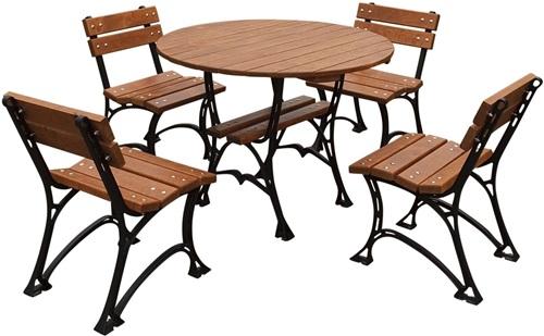 Stoły i krzesła ogrodowe drewniane Restor