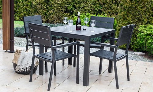 Stoły i krzesła ogrodowe aluminiowe Rimini Mini Plus