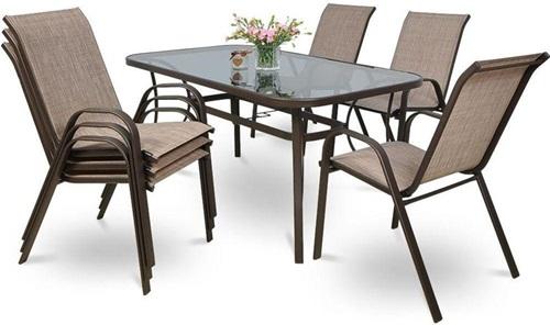 Stoły i krzesła ogrodowe metalowe Bologna