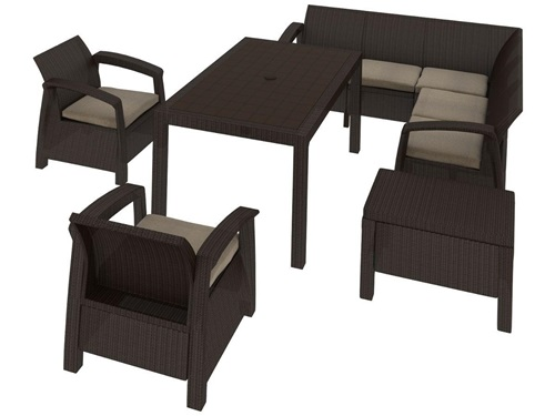 Stoły i krzesła ogrodowe Corfu Relax Duo Max