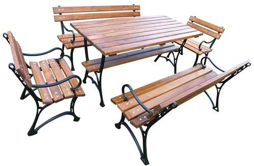 Stoły i krzesła ogrodowe drewniane Faktor Plus