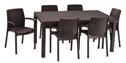 Stół i krzesła ogrodowe Melody 6B