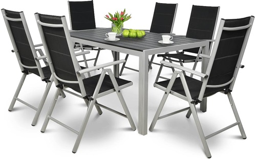 Stoły i krzesła ogrodowe aluminiowe Sydney