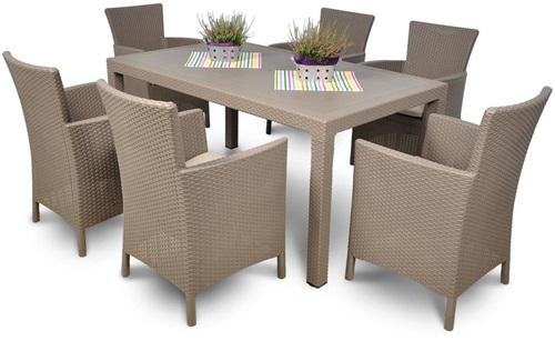 Zestaw ogrodowy stół i krzesła Toscana