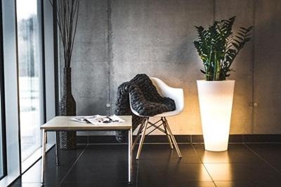 Donica podświetlana LED Della - 75cm - światło ciepłe