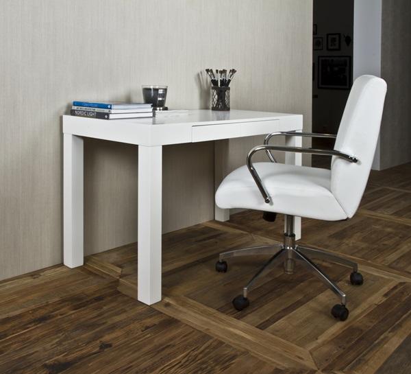 Actona Angela skandynawskie białe biurko połysk z fotelem Cosmos
