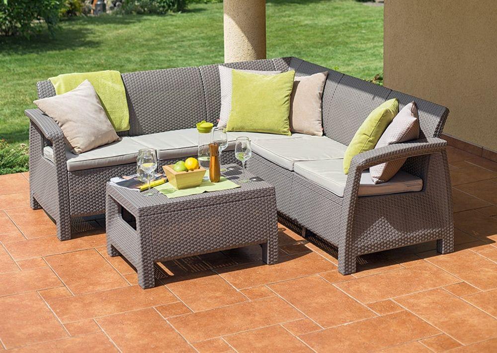 Curver Corfu Relax Set narożnik ogrodowy