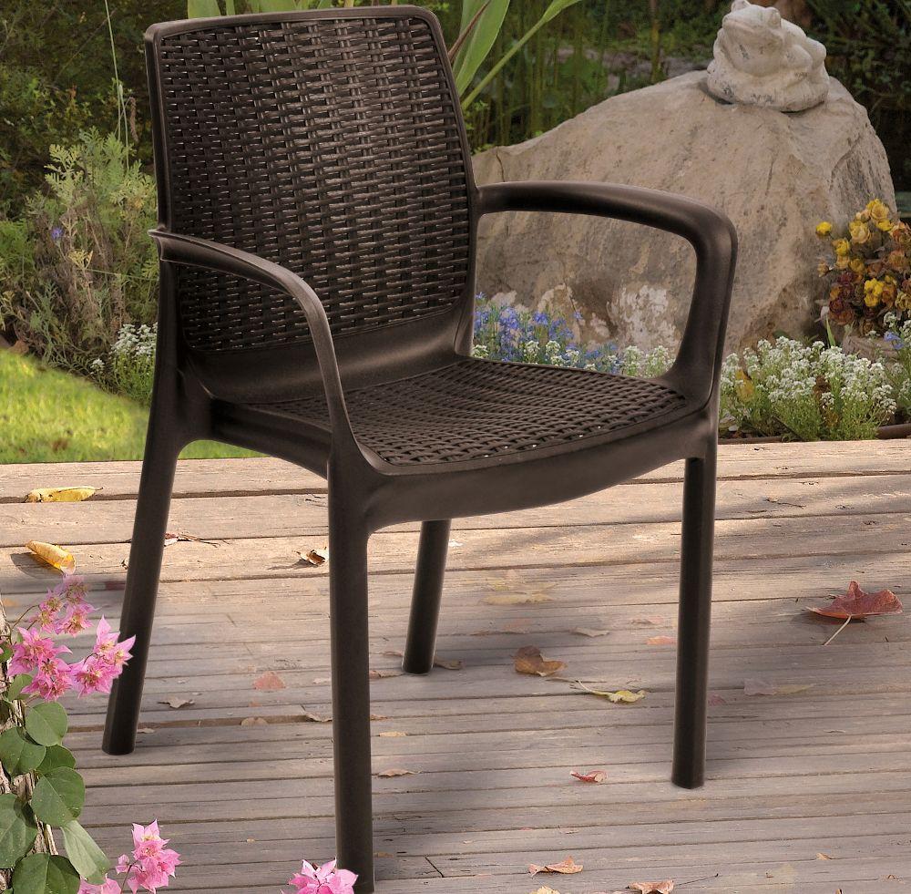 Wytrzymałe krzesło ogrodowe Bali Mono