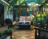 patio w stylu kolonialnym