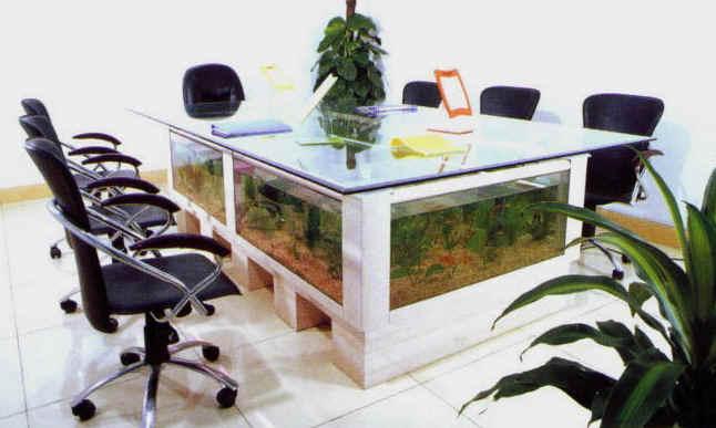 Biurowo nie tylko s u bowo porady for Fish tank dining room table