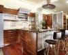 drewniana wyspa w kuchni