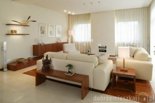 Ciepłe minimalistyczne wnętrze
