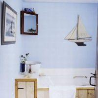 Wnętrze w stylu marynarskim