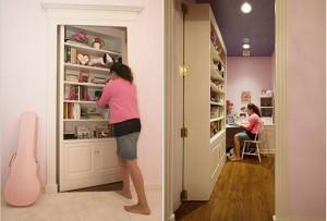 biblioteczka jako sekretne przejscie