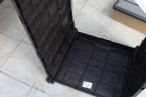 Skrzynia ogrodowa Keter Brushwood Storage Box 455L mocowanie drugiego boku
