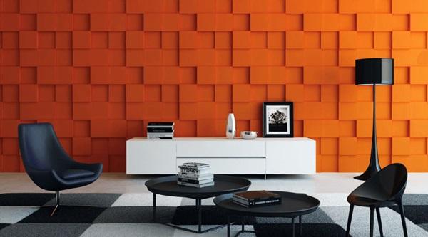 Dekoracyjne płyty 3D na ścianę gipsowe Rubik marki Art Panel.