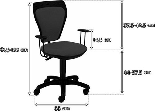Fotele obrotowe dla dzieci Ministyle - wymiary