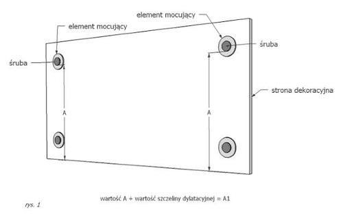 Montaż płyt betonowych na wieszakach