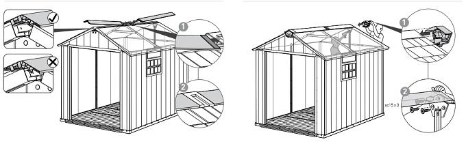 montaż wierzchołka dachu