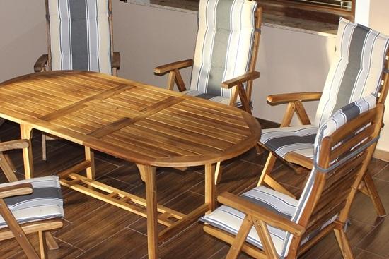 Jak konserwować składane meble ogrodowe drewniane Kennedy