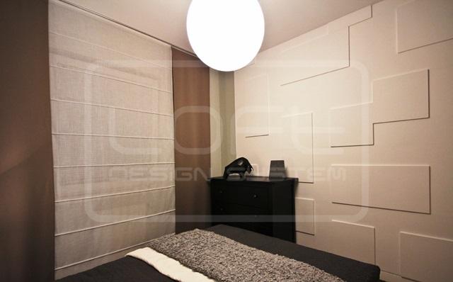 Sypialnia wykończona panelami Loft Design System model 06