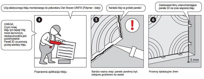 Montaż paneli ściennych na suficie - przyklejanie paneli