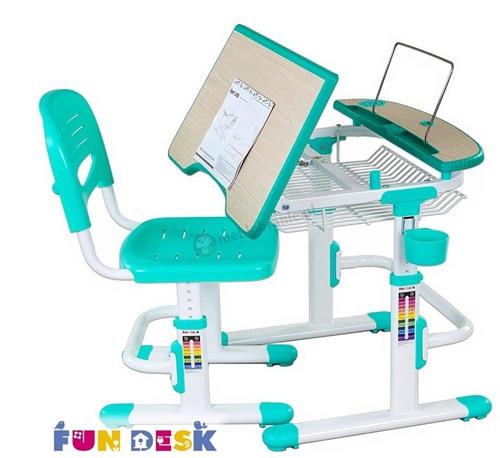 Colore Green małe biurko pod komputer i krzesło Fun Desk