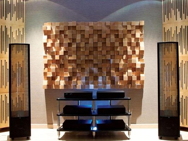 Panele ścienne drewniane 3D z funkcją wyciszania pomieszczeń