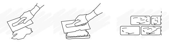 Jak położyć kamień dekoracyjny - obrazkowa instrukcja przyklejania płytek