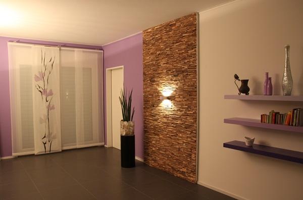Dekoracyjne panele ścienne drewniane tworzące dekoracyjny detal