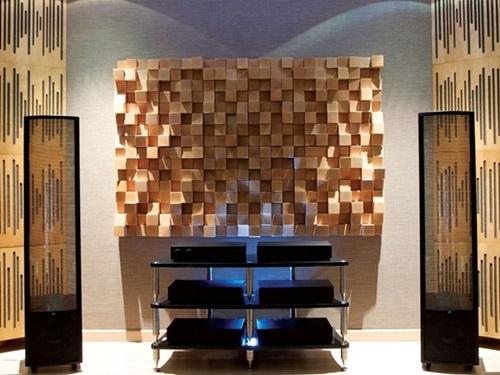 Drewniane panele na ścianę akustyczne Natural Wood Panels