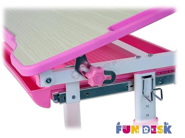Piccolino Pink biurko dla dziecka regulowane z krzesłem Fun Desk
