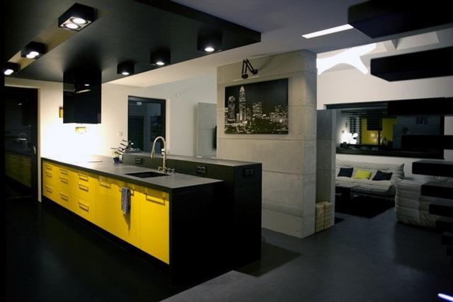 Dekoracyjne płyty betonowe w kuchni