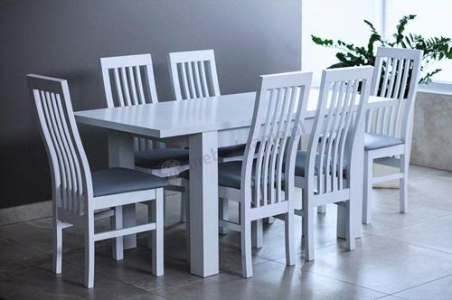 Jak urządzić jadalnię - pomysł na aranżację z kompletem stół plus 6 krzeseł
