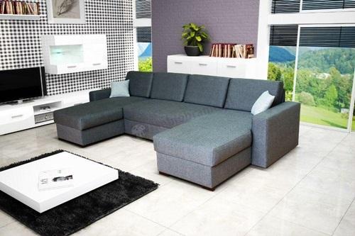 Kącik telewizyjny wnętrza z narożnymi sofami