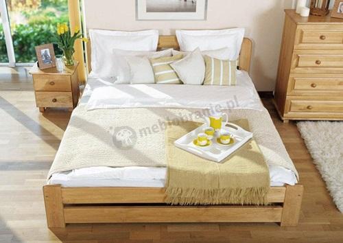 łóżko drewniane Lilia