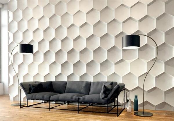 Płytka heksagon gipsowa Art Panels
