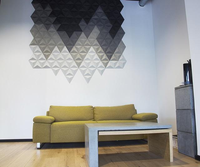 Płyty betonowe ozdobne w kształcie piramidek