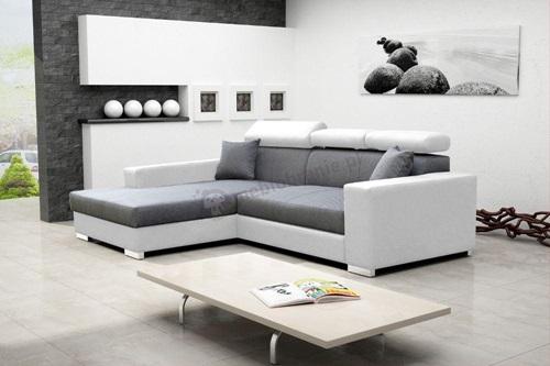 Salon z jasną sofą Mexico de Lux