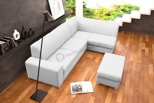 Salon z jasną sofą Minister