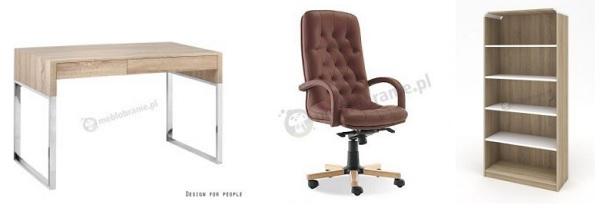Pomysł na nowoczesne biuro domowe z dominującym motywem dąb sonoma