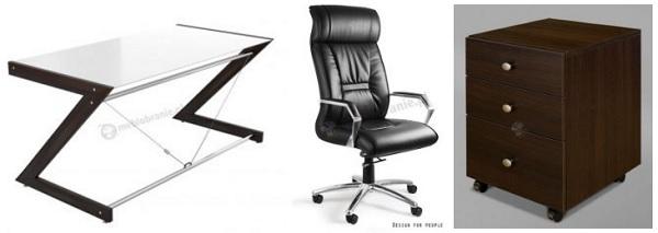 Pomysł na nowoczesne biuro domowe ze szkłem i drewnopodobnym wzorem wenge