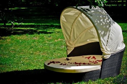 Łóżko ogrodowe technorattan TACITO