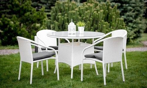 Zestaw ogrodowy stół i krzesła z technorattanu Cotia