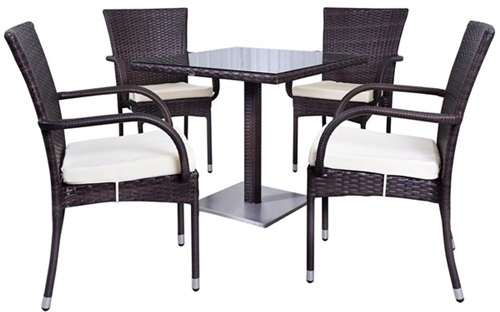 Zestaw ogrodowy stół i krzesła technorattan Lauca 80
