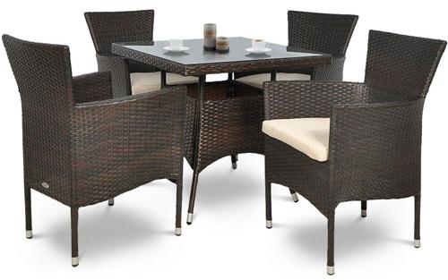 Stół ogrodowy i krzesła z technorattanu San Remo/Lugo 4+1
